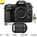 Nikon D7500 20.9MP DX-Format 4K Ultra HD Digital SLR Camera (Body Only) with 64GB Deluxe Bundle - (Certified Refurbished) (Nikon D7500 Camera with 18-140mm ED VR Lens)