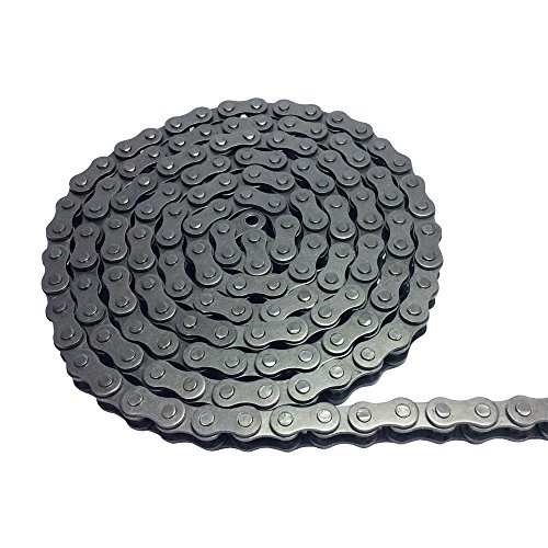 2M #25 Roller Chain with 1 Connector Connecting Link for Go Kart, Mini Bike Chain Replacements