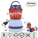 Towse Bug Zapper&Camping Lantern-2 In 1 LED Light and Mosquito Zapper Repellent Lantern via USB Light Camping Equipment&Accessories for Outdoor and Emergency- (Orange)