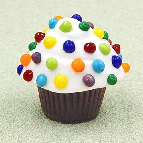 (Mini Candy Dots Cupcake Truffle Handmade Glass Art Gift Home Décor)