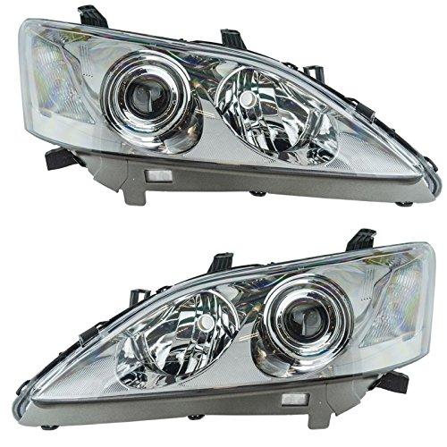 (Halogen Headlight Headlamp Light Lamp Pair Set Kit for 07-09 Lexus ES350 ES 350)