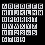 36 Pc Plastic Letter Craft Stencil Marker Font Number Templates Alphabet Stencils for DIY Painting.PET Material