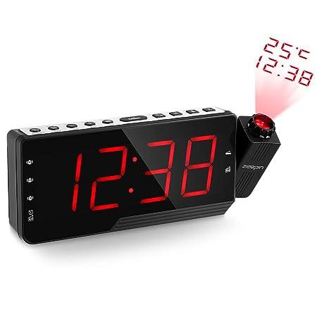 Zeeepin - Radio Despertador proyector de Techo con Radio FM ...