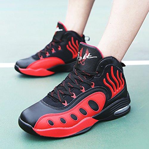 No.66 Mens Da Uomo Assorbimento Durto Da Corsa Scarpe Da Tennis Sneaker Scarpe Da Basket Rosse