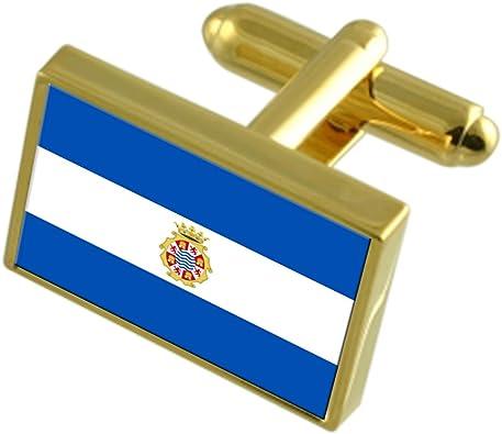 Select Gifts Ciudad de Jerez España Oro Gemelos de Bandera Cuadro ...