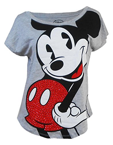 Disney-Womens-Mickey-to-The-Max-Bling-T-Shirt