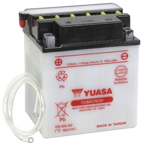 Yuasa YUAM221AY YB10A-A2 Battery (Battery Bayou 220 Kawasaki)