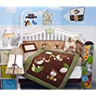 SoHo Monkey Business Baby Crib Nursery Bedding Set 13 pcs included Diaper Bag with Changing Pad & Bottle Case