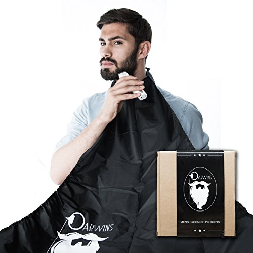 Darwins Beard Catcher – Trim Your Beard In Minutes Without The Mess And Stop Clogging Your Sink! Quality Grooming Cape - Keep Your Sink Clean and Girlfriend Happy! The Best Shaving Beard (Costume Ideas For Men With Beards)