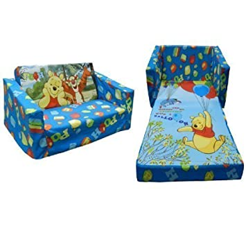 Charmant DISNEY WINNIE THE POOH CHILDRENS FLIP OUT DOUBLE FOAM SOFA SETTEE KID  LOUNGER BED SEAT
