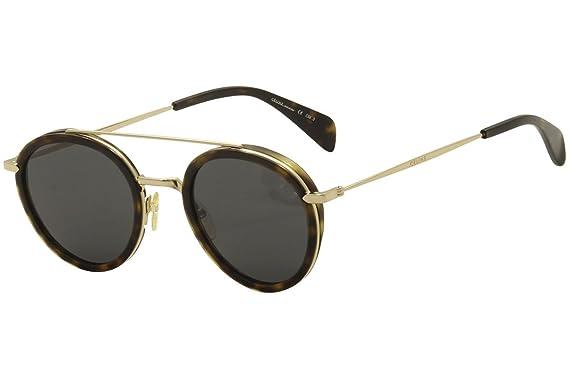 8f881ce8d56 Celine 41424/S ANT Dark Havana Gold 41424/S Round Sunglasses Lens ...