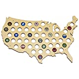 USA Beer Cap Map - Holds 50 Craft Beer Bottle Caps