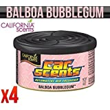 CALIFORNIA CAR SCENTS BALBOA BUBBLEGUM AIR FRESHENER HOME VAN OFFICE TAXI x 4