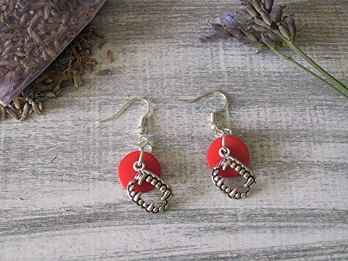 Halloween Fang Charm Earrings, Sterling Silver Hooks, Gift Boxed]()