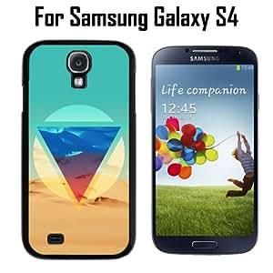 Hipster Desert Triangle Custom Case/ Cover/Skin *NEW* Case for Samsung Galaxy S4 - Black - Plastic Case (Ships from CA) Custom Protective Case , Design Case-ATT Verizon T-mobile Sprint ,Friendly Packaging - Slim Case