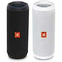 JBL Flip 4 Waterproof Bluetooth Speaker Party Pack (Black & White)