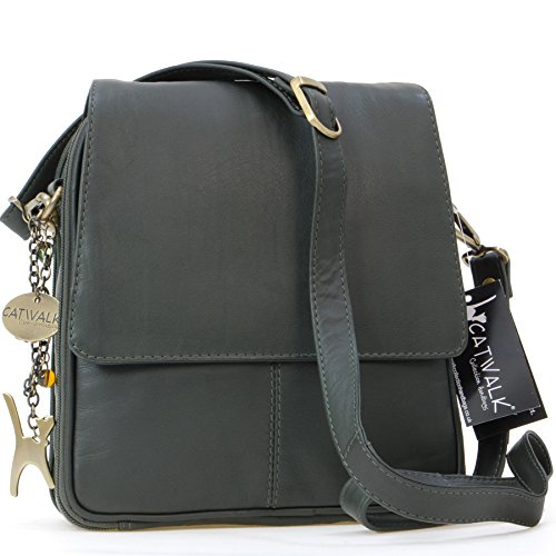 cuir en Vert Collection Sac type besace Catwalk