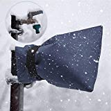 lotus.flower Outdoor Faucet Cover Insulated Garden Faucet Socks for Winter Freeze Protection Water Resistance (Navy)