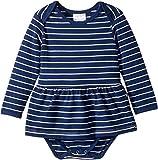 Toobydoo Baby Girl's Ballerina Romper Dress (Infant) Navy Stripe 12-18 Months