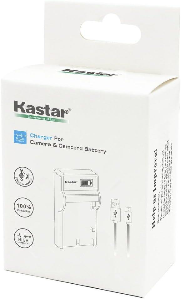 Kastar Slim LCD Charger for JVC BN-VF808 BN-VF808U More camcorders BNVF808 and JVC Everio GZ-MG130 148 150 155 175 255 275 575 GZ-HD7 GR-D745 746 750 760 770 771 775 790 796 JVC MiniDV