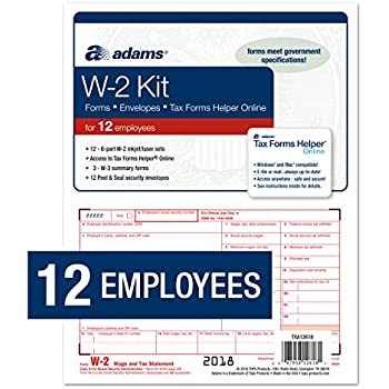 Amazon Com Adams 1099 Misc Tax Forms For 2018 5 Part Inkjet Laser