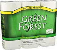 Green Forest Size Your Own Towels, White, 3 Count (Pack of 10)
