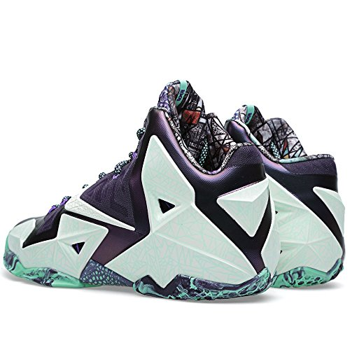 Zapatillas de Baloncesto Nike Lebron Xi All Star (AS) para Hombres Cachemira/Verde Brillante-Morado