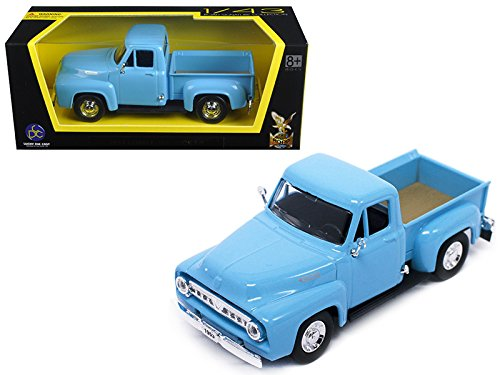 StarSun Depot 1953 Ford F-100 Pick Up Truck Light Blue 1/43 Car Model by Road Signature