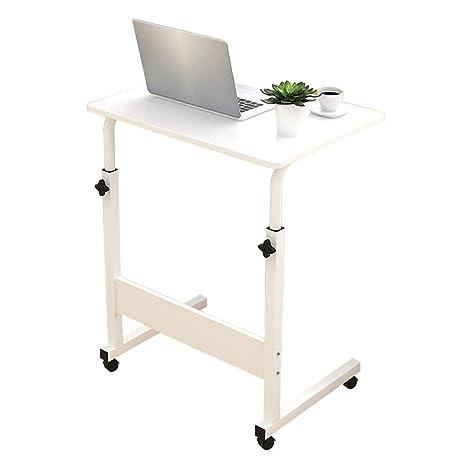 Mesa Chengxin Shop-Home Blanco Tipo C Laptop Extraíble Computadora portátil Soporte de la Rueda