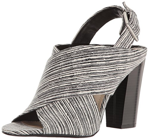 Black Suchi White Dress Women's Klein Sandal Calvin EqPXwx