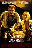 SIX DAYS SEVEN NIGHTS (1998) Original Movie Poster 27x40 - Dbl-Sided - Harrison Ford - Anne Heche - David Schwimmer - Jacqueline Obradors