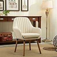 Roundhill Furniture Tuchico Contemporary Fabric Accent Chair, Tan, Chair, Tan