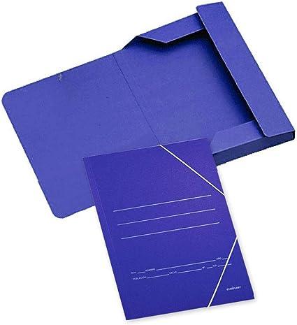 AC1511 - Pack de 20 carpetas de cartón con solapas y goma elástica ...