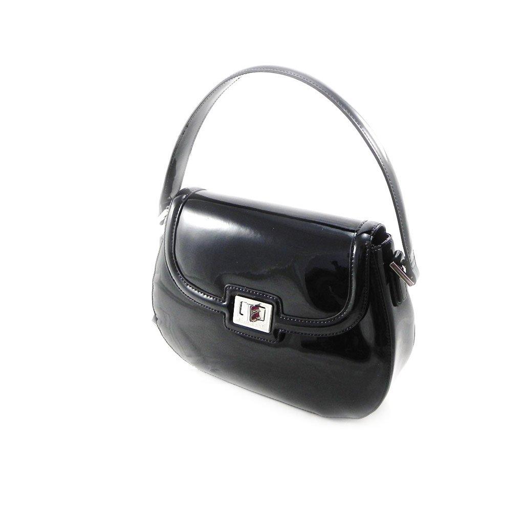 Leather bag 'Jacques Esterel' black lacquer.
