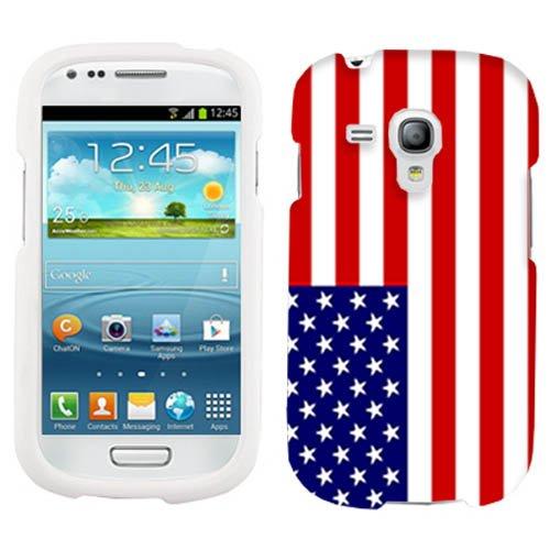Samsung Galaxy S3 Mini American Flag Hard Case Phone Cover ()