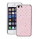Fosmon SLIM Series Star Diamond Design Crystal Case for Apple iPhone 5 - Baby Pink (Fosmon Retail Packaging)