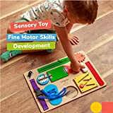 Montessori Busy Board for Toddlers - Wooden Sensory