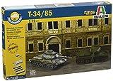Italeri - I7515 - Maquette - Chars d'assaut - T 34/85 X2 - Echelle 1:72