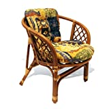 Bahama Handmade Rattan Wicker Chair with Cushion