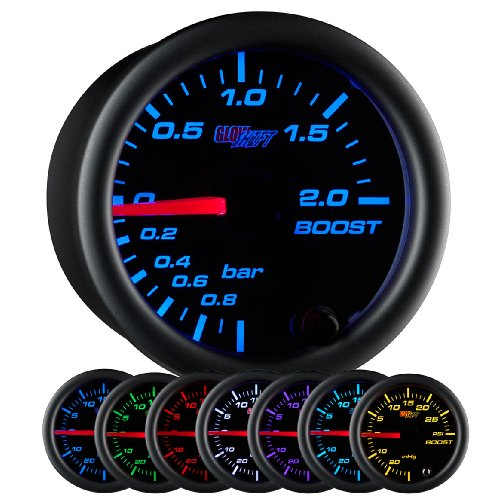 GlowShift Black 7 Color BAR Boost / Vacuum (Metric Boost)