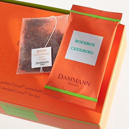 DAMMANN FRERES - Rooibos Cederberg Tea - 24 wrapped crystal envelopped tea bags