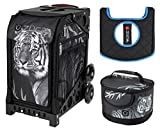 Zuca Sport Bag - Tiger with Lunchbox and Seat Cover (Black)