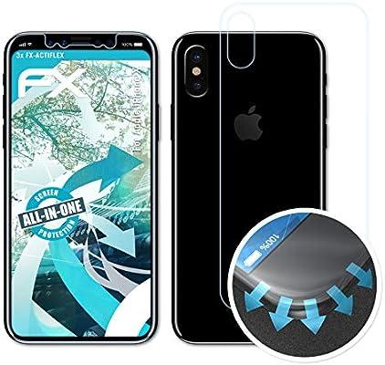 atFoliX Película Protectora Apto para Apple iPhone X Protector ...