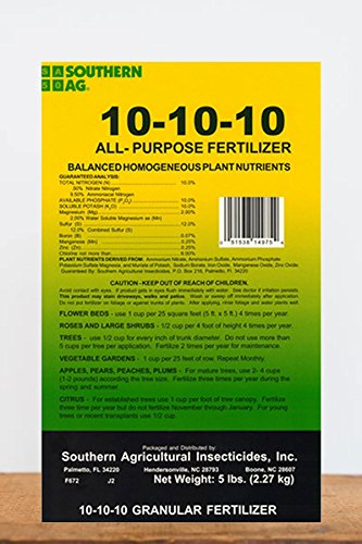 Southern Ag 10-10-10 All Purpose Granular Fertilizer 5lbs.