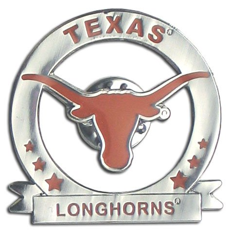 Officially Licensed College Glossy Pin - Texas Longhorns (Pins Longhorns Texas)