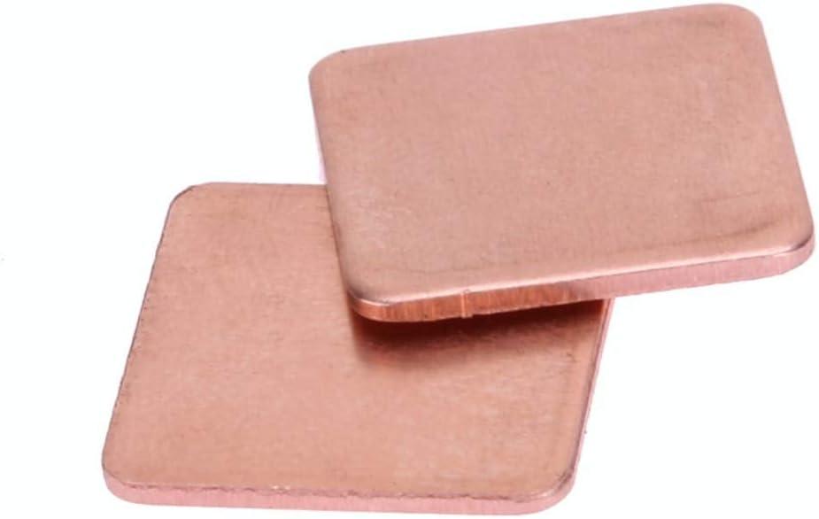 Blade Color: 0.8mm Thickness Rarido 20pcs//lot 1515mm 0.3mm to 1mm DIY Copper Shim Thermal Pad Heatsink Heat Sink Sheet for Laptop GPU CPU VGA Chip RAM Cooling