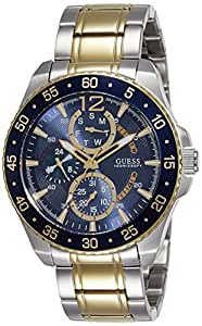 Guess Mens Quartz Watch, Analog Display and Stainless Steel Strap W0797G1