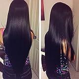 Cherie Hair 7a Malaysian Straight Hair 3 Bundles 100% Virgin Unprocessed Human Hair Silky Straight 100g/bundle Natural Black Color(12 14 16)