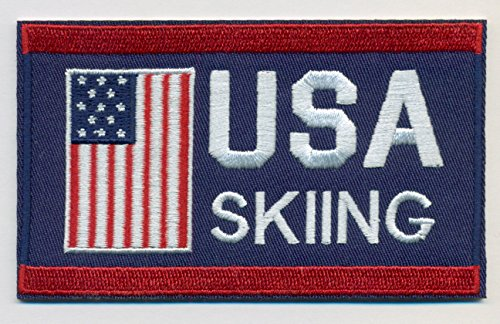 Skiing Team USA Embroidered Iron-On Patch Size 4