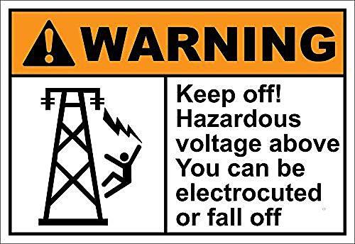 上記の危険電圧を避けてください 注意看板メタル金属板レトロブリキ家の装飾プラーク警告サイン安全標識デザイン贈り物